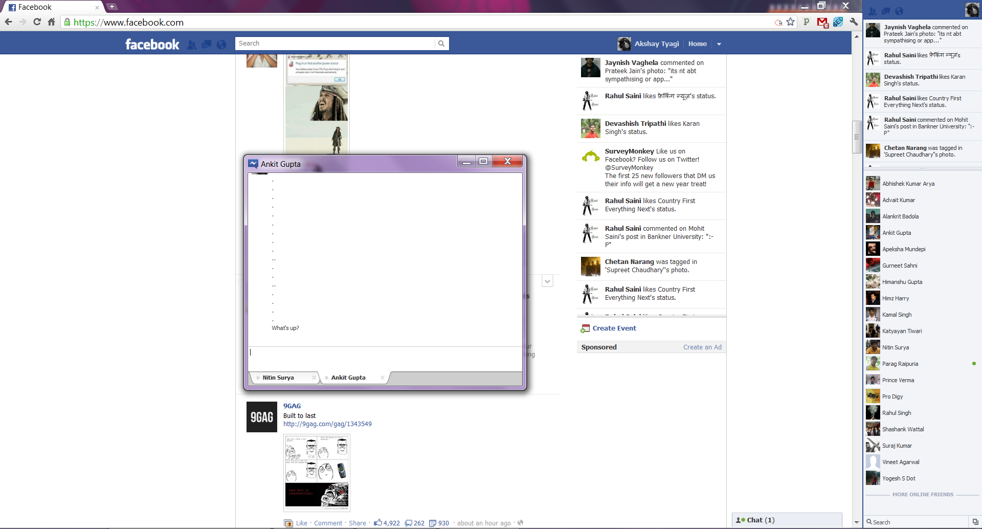 Facebook chat chat usa